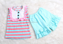2015 Adorable Baby Bib Tank Top For Hot Sale Toddler Kids Clothing Sets In Persnickety Western Girls Summer Outfits