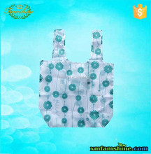 reusable 190T folded compact nylon shopping bag