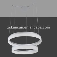 Hot-sell circle shape two floor LED chandeliers & Pendant Lights