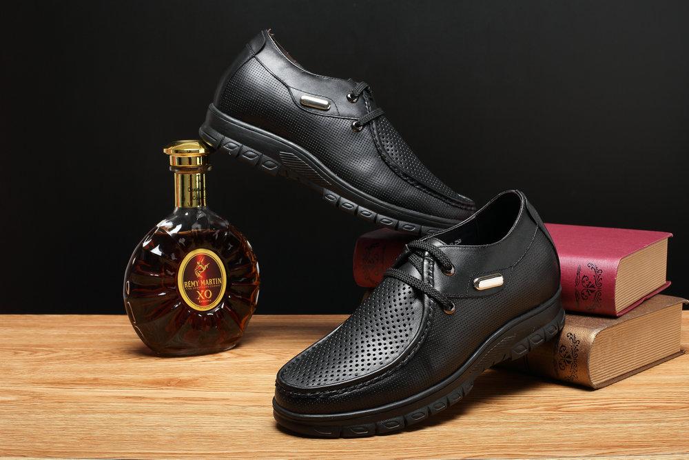 wholesale black leather lace up soft sole formal shoes