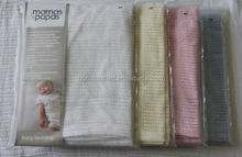 supersoft woven 100% cotton baby blanket