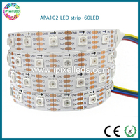 IP20 indoor 5v,14.4w 60pcs/m apa102 led strip lighting