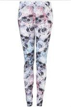 2012 rose flowers printing lycra legging pants for fashion girls