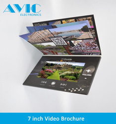 7 inch LCD customized advertising video mailer and business video brochure