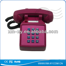 Caliente! De edad empuje la parte inferior de la vendimia con cable de teléfono con imcoming llamada flash