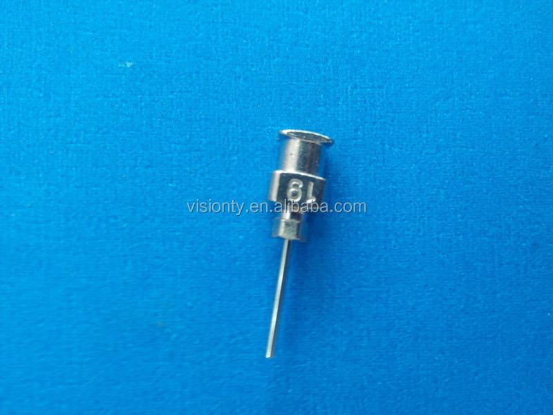 Высокая точность 19 г одноразовые нержавеющей стали иглы шприца / тупой иглой