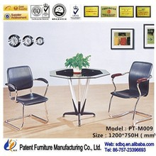 PT-M009 meeting table used,glass meeting table,antique small round table