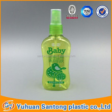 empty Baby toilet water bottle plastic sprayer bottle for cosmetic package usage