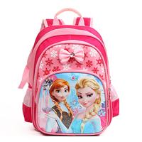 HOT!2016 New Frozen Elsa Backpack Snow Girl Boy's School Princess Bag