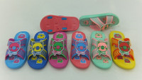 2015 new design kids pvc sandals kids slipper kids pvc air blowing sandals