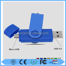 Custom design blue usb drivers with logo with low price