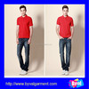 Red polo shirt wholesale summer polo shirt for mens slim fit