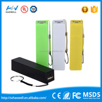 2015 Creative Design simple fashion 5V 1000mA power bank portable charger