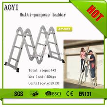 YK EN131 New 12 steps lightweight strong nonslip folding alloy collapsible ladders