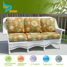 White Garden Wicker Sofa Patio Lounge Rattan Sofa Couch Setting Outdoor Furniture Wholesale