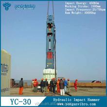 YC30 Impact piling machine