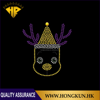 Custom wholesale iron-on rhinestone hot fix heat transfer design
