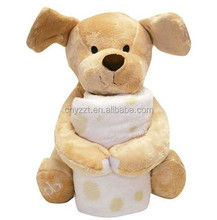 custom plush animal toys with blanket for baby/ children, plush animal toy with blanket