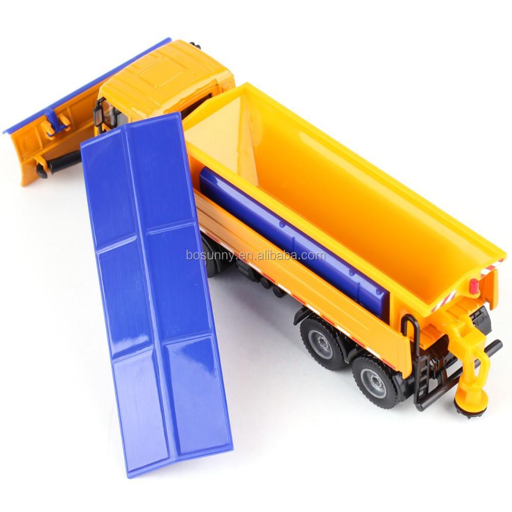 KDW 1:50 scale model wholesale diecast snowplows truck