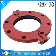 Fm /UL Approved Ductile Iron Pipe Fittings Grooved Flange