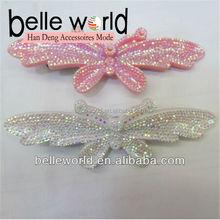 Fashion Girl's Custom plastic butterfly hair clips