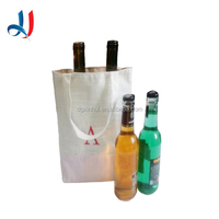 Costomized Top Quality Cheap Price Durable Linen Cotton Wine Bottle Tote Bag
