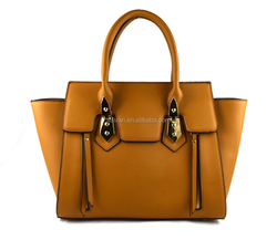new design women bag, tote bag, ladies handbag with front zip, hot new product for 2015
