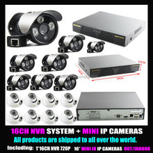 HIGH DEFINITION 16 Outdoor Dome IP Camera System and Weather Proof Infrared Bullet Security Camera System