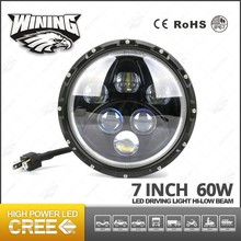 "New Product Headlight Jeep Rubicon Rear Light Blue/Amber LED Angel Eyes Halo 7"" Round Headlights LED Angel Eye for Car accessory"