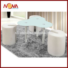 Barato pequeña mesa auxiliar de con 3 taburetes