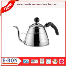 hot selling stainless steel mirror finish tea pot with handle