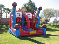 2015 hot sale inflatable basketball goal, inflatable sport children's game