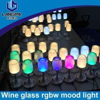 Langma Living Room Bar Saloon Dining Room LED Light Cup Wineglass color changing RGB Flashing Wine Glass bar lighting