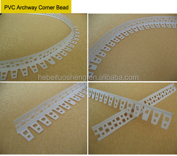 Flexible Corner Bead : Flexible pvc plaster arch bead buy
