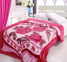 100% polyester adults printed acrylic fleece blanket