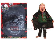New halloween party latex devil mask with costume