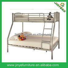 SILVER METAL TWIN-FULL YOUTH TRIPLE THREE SLEEPER BUNK BED
