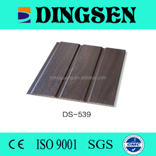 new eco-material NATURAL wood grain with three grooves laminated pvc panel