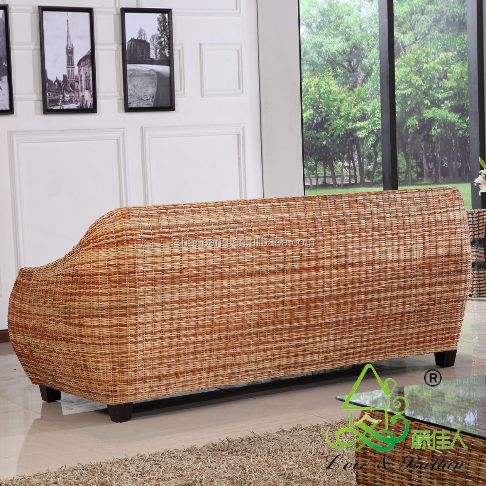High Quality Modern Luxury Balcony Sunroom Wicker Indoor Natural Rattan Secti