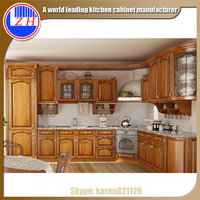 American Modern Solid Wood Kitchen Cabinets Fitted kitchen Design