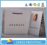 Custom boutique bags, boutique shopping bags, custom shopping bags with ribbon in good quality