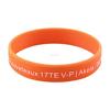 Cheap custom fashion two color silicone bracelet