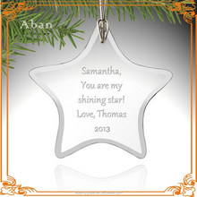 hanging tree crystal christmas decoration,clear ornament pendants crystal