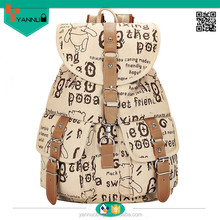 canvas back pack teenager boys girls school bags and backpacks