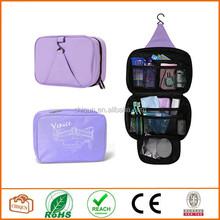 2015 Chiqun Dongguan Multi-functional Waterproof Hanging Toiletries Travel Make-up Wash Cosmetic Bags Storage Cases Purple