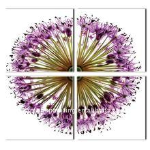 3D imprimió el cuadro para la decoración de la pared, foto del arte de la flor
