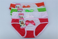 Bow tie kids underwear girl underwear kids girl model underwear