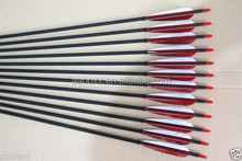 red and white 33 inch pure Carbon Arrow for hunting