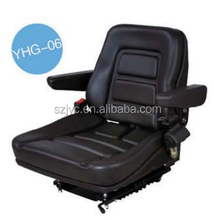 China Factory Supply Machinery suspension Driver Seat Comfortable forklift Seat With Armrest YHG-06