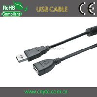 Standard usb 2.0 nickel plated am/fm usb extension cable